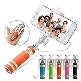 I-Sonite (orange) Universal Verstellbare Mini Selfie Kamera Stock-im Taschenformat Einbeinstativ Built-In-Fernauslöser für Huawei Mate 10