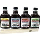 Mississippi Barbecue Grill Saucen 'Testpaket', 4 x 440ml + usy Gillzange aus Holz