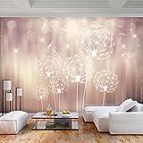 decomonkey | Fototapete Pusteblume 350x256 cm XL | Tapete | Wandbild | Wandbild | Bild | Fototapete | Tapeten | Wandtapete | Wanddeko | Wandtapete | Blumen Abstrakt Licht orange rosa weiß | FOA0107c73XL