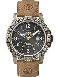 Timex Herren-Armbanduhr Analog Quarz Leder T49991