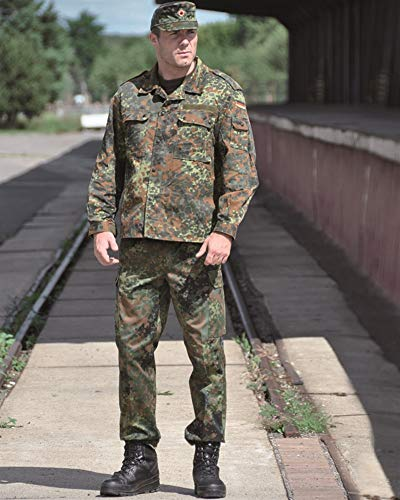 Mil-Tec German Flecktarn Camouflage Pattern Fatigue Field Shirt (42 inch - Short (GR4)) -