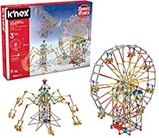 K'NEX Thrill Rides 3-in-1 Classic Amusement Park Building Set for Ages 9+, Engineering Education Toy, 744 Pieces