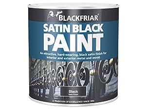 Blackfriar Peinture pour bois/métal Extérieur/intérieur Noir satiné 250 ml