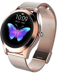 Smartwatch Damen Multisport Fitness Armband Healthwatch Rosegold Aktivitätstracker Elegant Herzfrequenz Schrittzähler Schlaftracker