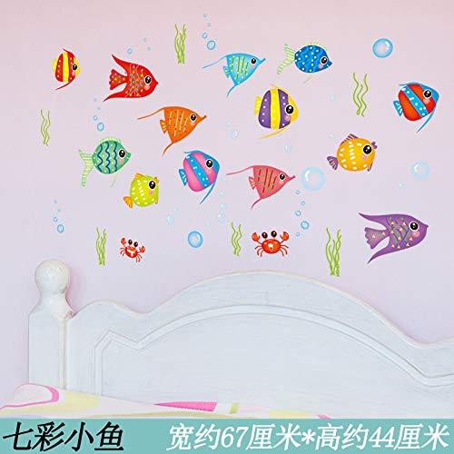 Yirenfeng Kindergarten Kinderzimmer Ozean Halle Meeresboden Welt Seagrass Wandmalerei Bad Wasserdichte Aufkleber B