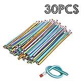 Leisial Lot de 30 crayons souples magiques Multicolore 18 cm