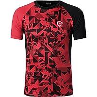Jeansian Hombre Camisetas Deportivas Wicking Quick Dry tee T-Shirt Sport  Tops LSL133 8c8e9f12b3715