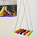Nmber-mm Parrot Swing Toy Hanging Stairs Suspension Bridge Swing Standing Stand Stand Bird Cage Accessories 9