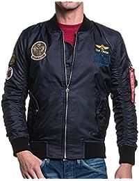 BLZ jeans - Bomber homme navy écusson