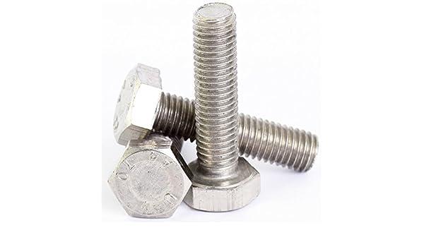 M8 x 60 mm A2 Stainless Steel Hex Head Set Screw Hexagon Bolt Din 933 10pk