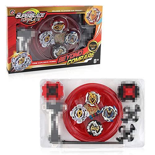 Beyblade Burst Starter Set | 4D Fusion Modell Metall Masters Beschleunigungslauncher Speed Kreisel mit Basis-Arena | Kinder Spielzeug Kindertag, Ostern, Weihnachten, Geburtstag Jahr (TL-XD168-9) Modell Tl