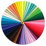 Ciaoed 50 Stück Mehrfarbig Stoff DIY Gewebe Quadrate