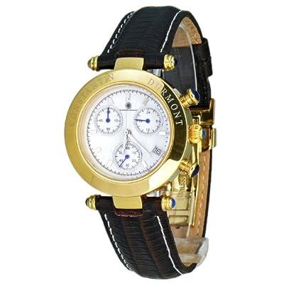 Constantin Durmont Visage - Reloj cronógrafo de mujer de cuarzo con correa de piel marrón (cronómetro) - sumergible a 30 metros de Constantin Durmont