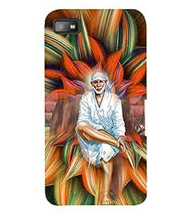 PrintVisa Religious & Spiritual Sai Baba 3D Hard Polycarbonate Designer Back Case Cover for Blackberry Z10