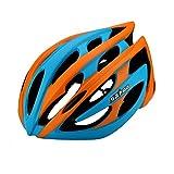 255g poids ultra léger - Eco-Friendly super léger casque intégralement vélo, réglable léger Mountain Road casques vélo pour hommes et femmes ( Color : Orange )