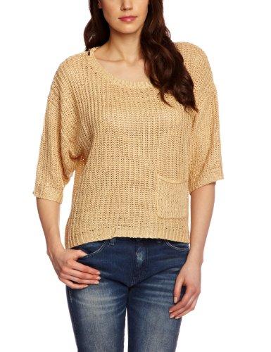 mini-numph-maglia-manica-corta-donna-beige-beige-wheat-melange-36-de