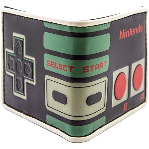 Nintendo NES Retro Schwarz Portemonnaie Geldbörse