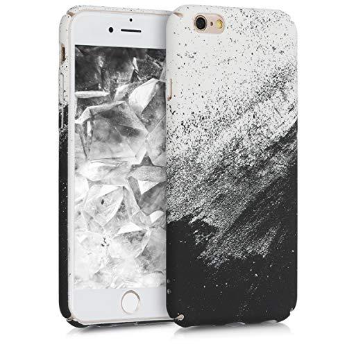 kwmobile Apple iPhone 6 / 6S Hülle - Handyhülle für Apple iPhone 6 / 6S - Handy Case Cover Schutzhülle - Farbbrush Tusche Design Schwarz Weiß