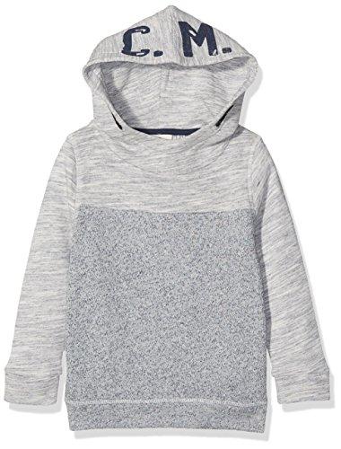 TOM TAILOR Kids Jungen Kapuzenpullover Fabric Mix Hoody Sweatshirt, Blau (Original 1000), 134