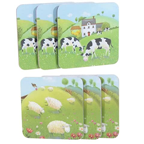 Jan Pashley Cows & Sheep in the Countryside design - Set of 4 Coasters