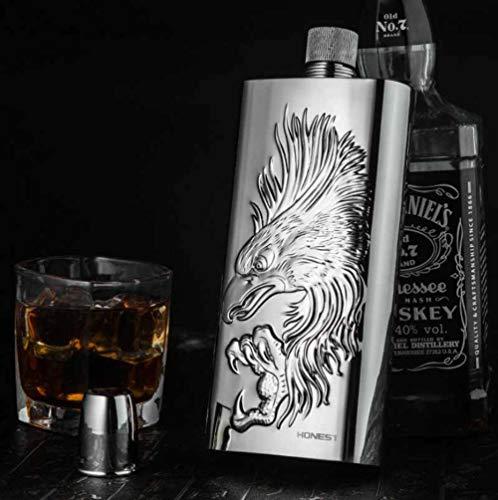 Honest Luxus große schöne Flachmann Hip-Kolben für Whisky Vodka 500ml Adlermotiv