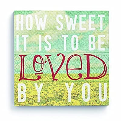 Lyricology Marvin Gaye How Sweet It is Canvas Wall Art Picture, Song Lyrics on Hanging Wooden Frame - cheap UK light store.