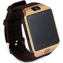Mobiper facebook twitter Monitor de sueño/podómetro/Alarma/ Fotografía remoto/sensor de gravedad /Soporta llamada Mensaje SIM para Smartphone Android , Samsung, HTC, Huawei, ZTE, LG, HTC, Sony iPhone 5 / 5C / 5S / 6/6 plus(Gold) [Importado de Reino Unido]