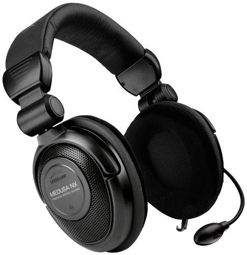 Speedlink Medusa NX 7.1 Surround Kopfhörer mit Mikrofon und Kabelfernbedienung (USB, Virtuelle 7.1-Surround-Technik, integrierte Soundkarte, faltbar)