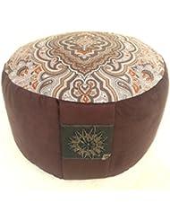 Coussin de méditation Yoga Coussin avec housse amovible BASSETTI Tantra Méditation Mandala de lotus Yoga