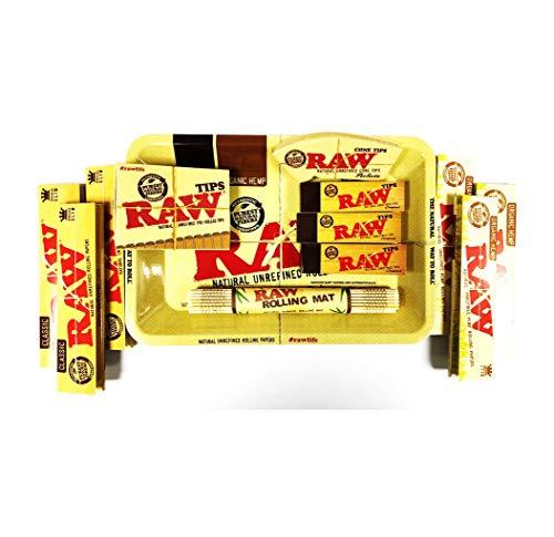 RAW Rauchen rizlas Bundle Kit Rolling Tablett Roach (Rolling Papers Bundle Raw)