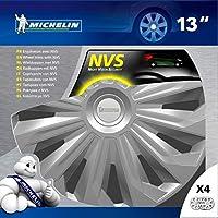 """Michelin 009125 Boîte 4 Enjoliveurs 13"""" Nvs 04 Gris"""