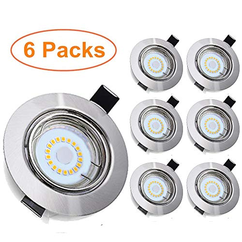6 Piezas Foco Empotrable LED, Tomshine GU10 5W 500LM Focos Led Empotrables...