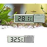 Fomccu LCD 3d Cristal Digital Poisson Reptile Aquarium Thermomètre Température Argent
