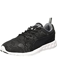 Puma Men's Carson Runner Camo Mesh Idp Black-Steel Gray-White Running Shoes