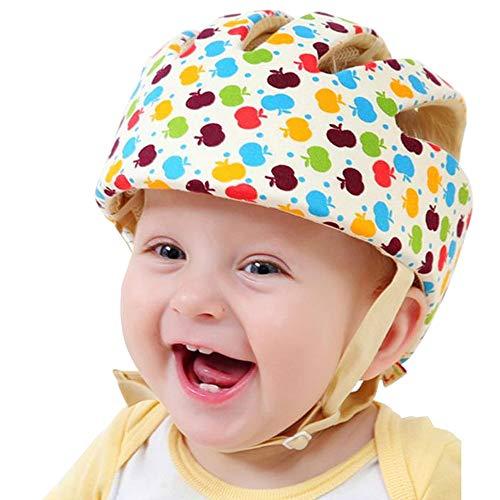 Nellmo Baby Helm Kleinkind Schutzhut Kopf Kopfschutz Baumwollhut Kleinkind Einstellbarer Schutzhelm (Apple Flower)