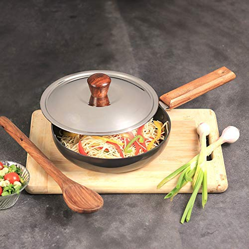 Wonderchef Ebony Deep Fry Pan with Lid 20cm