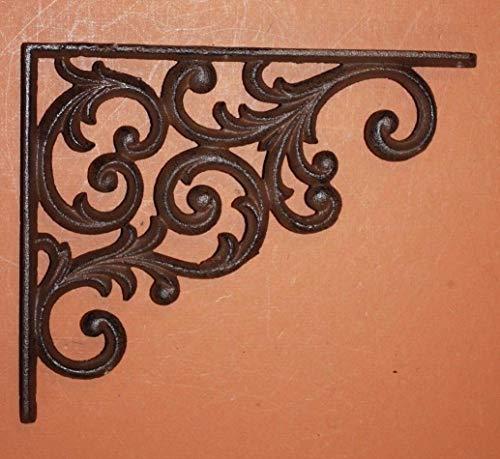 Südliche Metall Set von Regal Klammern solid Cast Iron verziertscroll -