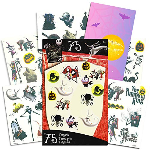 istmas Tattoos - 75 Temporary Tattoos ~ Jack Skellington, Sally, Oogie Boogie, and More! by Nightmare Before Christmas ()