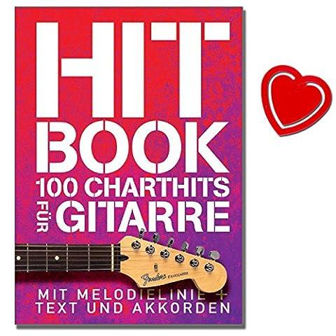 Hit Book - 100 Charthits für Gitarre - aktuelle Top-Titel und etwas ältere Hits - [ Noten / Sheetmusic / Songbook] - mit herzförmiger (Hits Songbook)