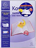 Exacompta Kover Protège-cahier en PVC 24 x 32 cm Translucide Incolore