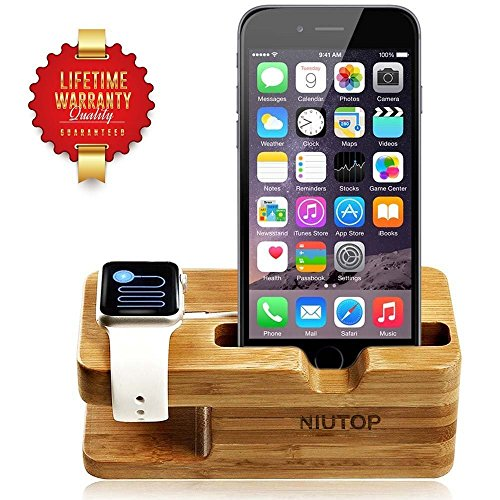 NIUTOP-Apple-Watch-Stand-iWatch-Wood-Charging-Stand-Bracket-Docking-Station-Stock-Cradle-Holder-for-Both-38mm-and-42mm