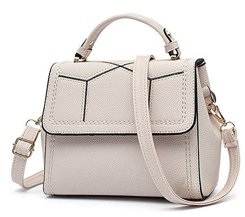 Sacs à main pour femme Xinmaoyuan petit square bag ladies sac à main Sac à bandoulière Pu Simple occasionnels White
