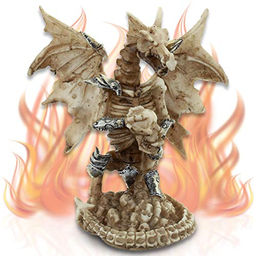 mtb more energy Deko Figur ''Fear The Lich Dragon'' - Totenschädel Figur Dekoration
