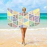 Jacklee Mikrofaser-Strandtücher Tribale Etnico großes Reise-Handtuch - Ultra saugstark, Schnell trocknend Palestra Handtuch für Männer, Frauen And Kinder