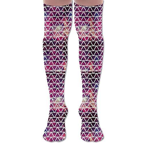 Not afraid Red Triangle Fringe Pattern Unisex Knee High Long Socks Boot High Socks Length 50CM - Groß Fringe Boot