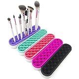 Make-up e supporto di spazzola cosmetica fatta di supporto in silicone per il trucco, spazzola, essiccazione e detenzione, cosmetici, pratico e bello - viola