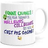 Mug Humour Collègue Tasse Message Drôle Rigolo. Idée Cadeau Original pour Départ en Retraite Mutation Travail Bureau Homme Fe