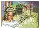 Briefmarken für Sammler–Prinzessin Diana imperforfate Stempel Blatt mit Ihre in, wird Ihre Hochzeit Kleid/Mongolei