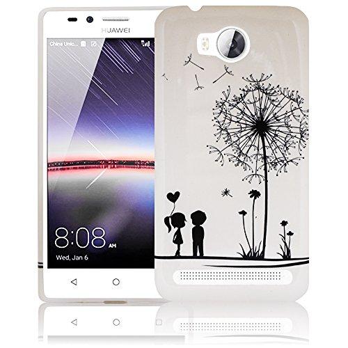 Huawei Y3 II Pusteblume Silikon Schutz-Hülle weiche Tasche Cover Case Bumper Etui Flip smartphone handy backcover Schutzhülle Handyhülle thematys®