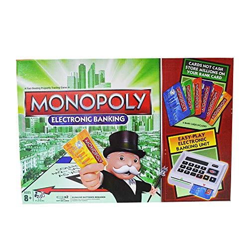 Monopoly Electronic Banking Board Game for Families and Kids Ages 8 and Up, 2-4 Players